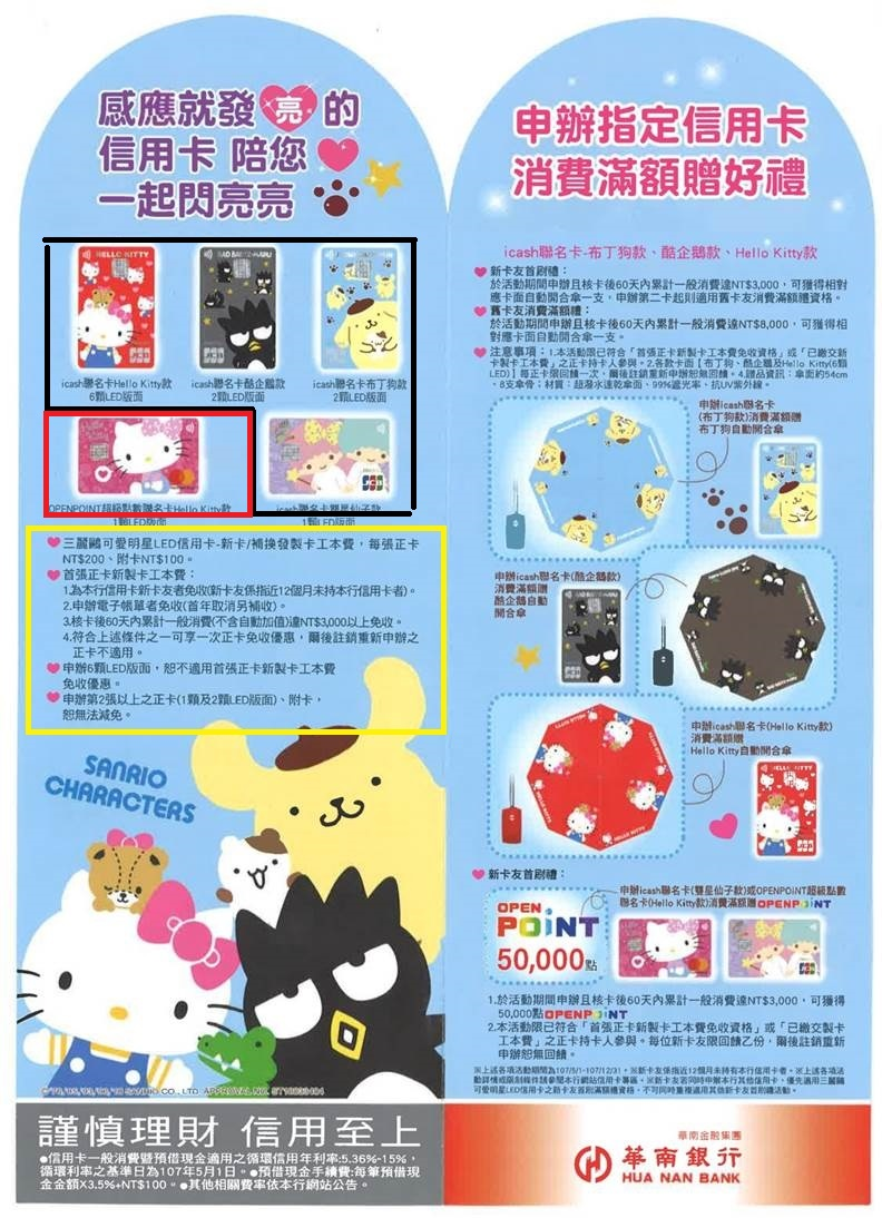 Hellokitty credit card